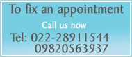 Call us to fix an Appointment
